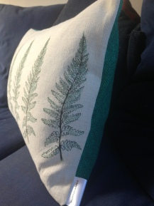 close up of the Fern design