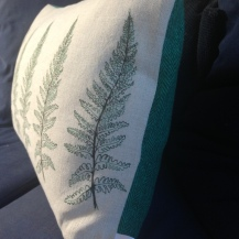 close up of the Fern design