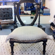 the beginnings of the seat