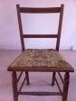 before:small wooden chair, ideally should be caned but client wanted it upholstered
