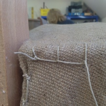 blanket stitch to hold in place