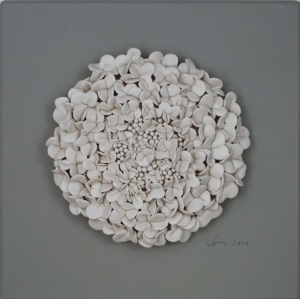 White Lilac Flower Ceramic Tile White Earth Studio £110.80
