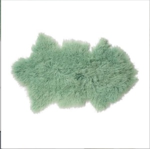 Mint green Mongolian Sheep skin HouseEnvy £179