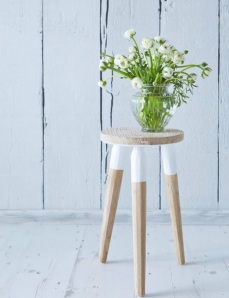 Colour washed stool Nordic house £49.95